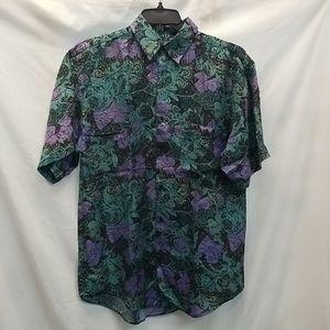 Goouch Men's Short Sleeve Button Down Shirt Sz S